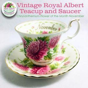 Vintage Royal Albert Teacup and Saucer Chrysanthem